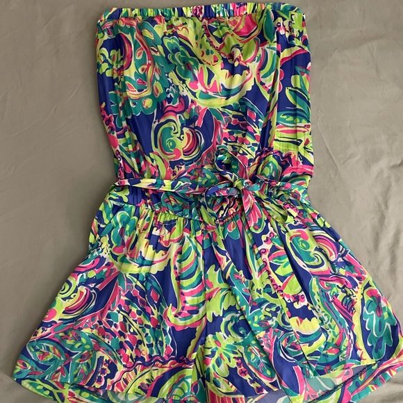 Lilly Pulitzer wrap romper